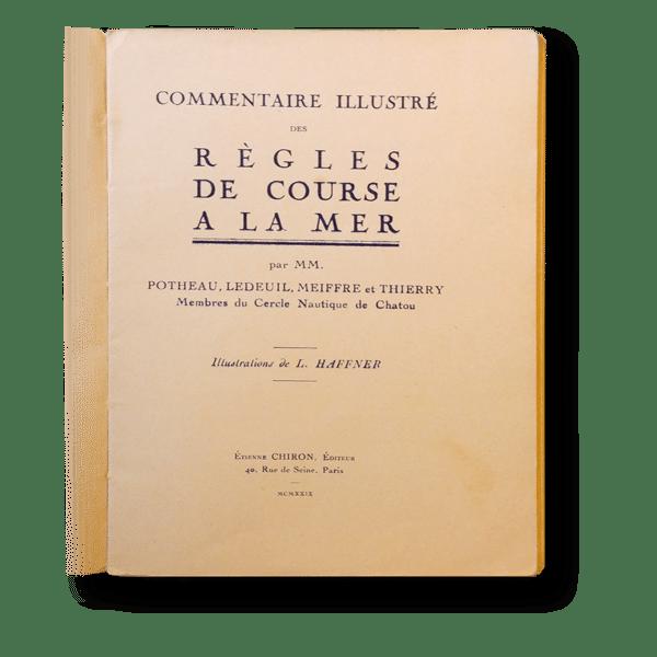 Règles de courses à la mer - 1929