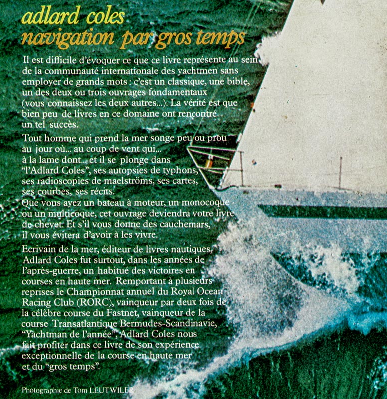 Adlard Coles - Navigation par gros temps