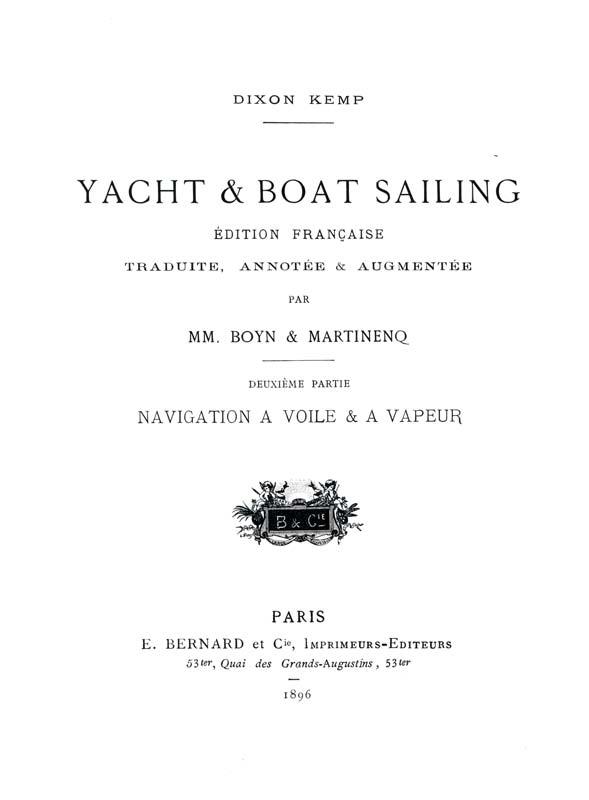Dixon Kemp Manuel yachting canotage
