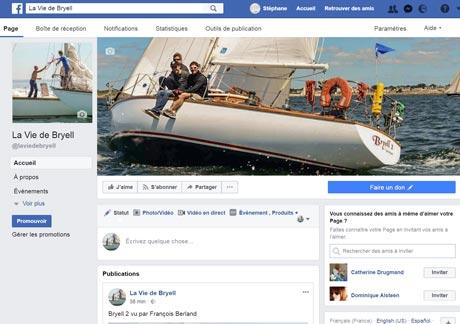 page Facebook de Bryell