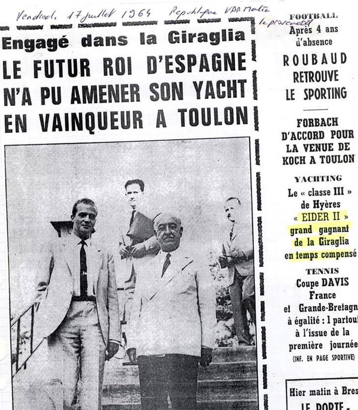 Eider gagne la Giraglia 1964
